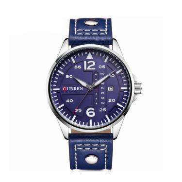 88bb0e8a1bd Relógio Curren Analógico 8224 Prata E Azul masculino