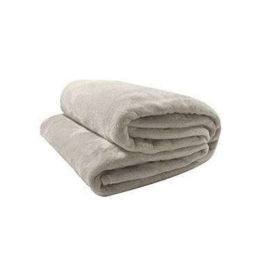 Imagem de Cobertor Manta de Microfibra Neo Velour 300g Solteiro 1,50 x 2,20 Bege Camesa
