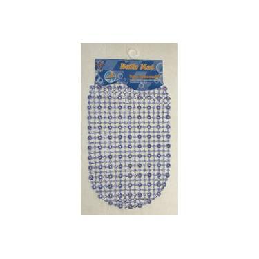 Imagem de Tapete de banheiro antiderrapante para box com ventosas Azul