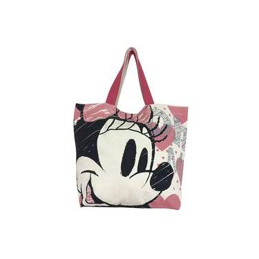 Bolsa Shopping Bag Corações Minnie Disney