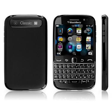 Capa clássica BlackBerry, BoxWave [capa blackout] durável, slim fit, capa preta de TPU para BlackBerry Classic