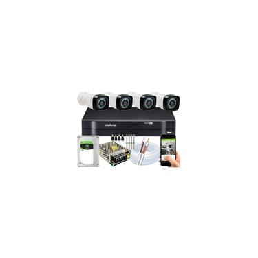 Imagem de Kit dvr Intelbras 8 canais H.265 1TB 4 câmeras Full HD 20m