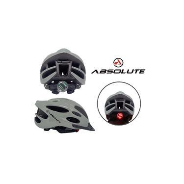Capacete de Ciclismo Absolute Nero Cinza C/Sinalizador Led