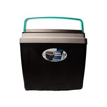 Caixa Térmica Cooler 34 Litros Com Alça E Porta Copos