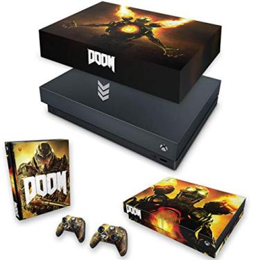 Capa Anti Poeira e Skin para Xbox One X - Doom