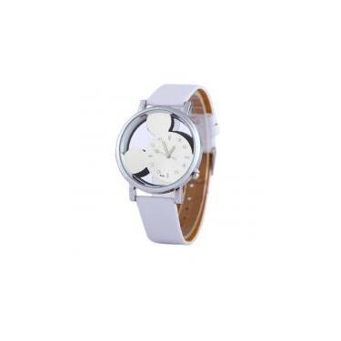 55c10e7fff1 Relógio Feminino de Pulso Branco Mickey Mouse Transparente - Outras marcas