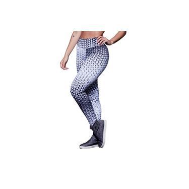 Imagem de Calça Legging Feminina Poliéster Sublimada Action Branco