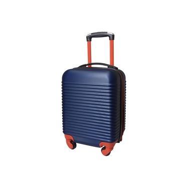 Imagem de Mala de Viagem Exeway Pequena com Puxador Retrátil e Rodas 360, Azul