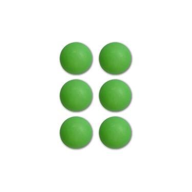 Bolas / Bolinhas De Ping Pong Verde Pacote Com 6 Unidades