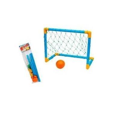 Imagem de Kit Futebol Infantil Trave Rede Bola Gol