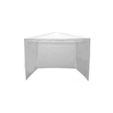 Kit Tenda Gazebo Branco 3m X 3m + 3 Paredes Laterais Sem Janela
