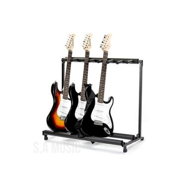 Imagem de Suporte Estante Rack Chão P/ 5 Violão Guitarra Baixo Viola