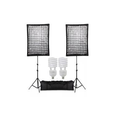 Imagem de Iluminador Kit Soft-box 50x70 Greika Agata Ii Led 220v 5500k