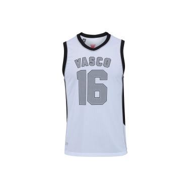 72edd14e7b Camiseta Regata do Vasco da Gama Victory - Masculina - BRANCO PRETO  Braziline