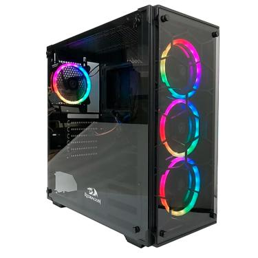 Gabinete Gamer Redragon Wheel Jack - Janelas Lateral e Frontal em Vidro Temperado - Mid Tower - GC-6