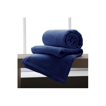 Imagem de Cobertor / Manta De Microfibra Queen 210 G/M² Azul - Andreza