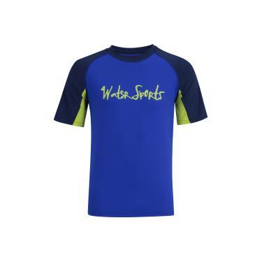 1155e765fb Camiseta com Proteção Solar UV Oxer Samoa Apia - Masculina - AZUL ESC AZUL  Oxer