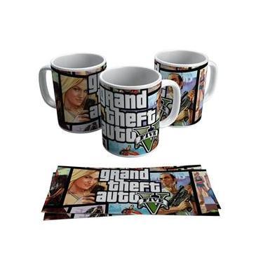Caneca GTA V Jogo Grand Theft Auto Gamer Geek Vídeo Game Presente