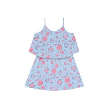 Vestido estampa floral mineral 11203083 - Azul - 04