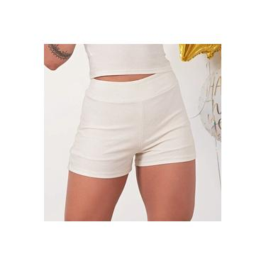Shorts Feminino Lurex Off Dourado