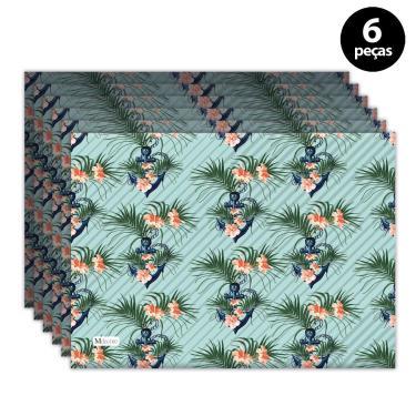 Imagem de Jogo Americano Mdecore Âncora 40x28 cm Verde 6pçs