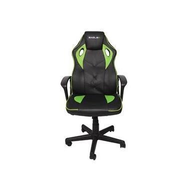 Cadeira Gamer Verde EagleX S1 Com Ajuste de Altura Modo Balanço e Reclinavel