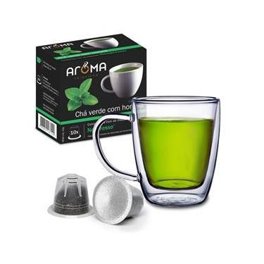 Cápsulas de Chá  Chá Verde com Hortelã Aroma - 10 Unidades