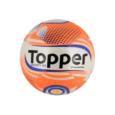 Bola Society Topper Champion N4 - Branco Coral Topper 1bdea8055c4f0