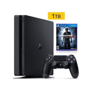 Console Playstation 4 1Tb Slim + Uncharted 4 A Thief's End