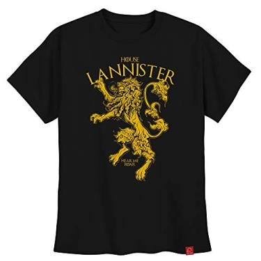 Camiseta Lannister Game Of Thrones Masculina Casas Got XG
