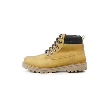 Bota Coturno Casual Masculino Top Franca Shoes Mostarda  masculino