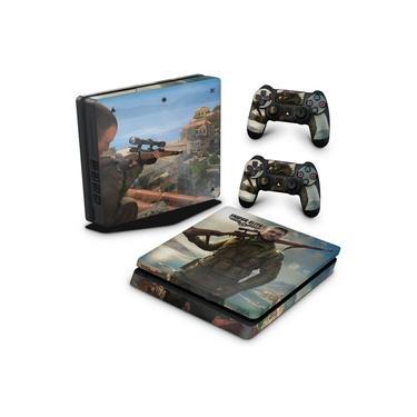 Skin Adesivo para PS4 Slim - Sniper Elite 4