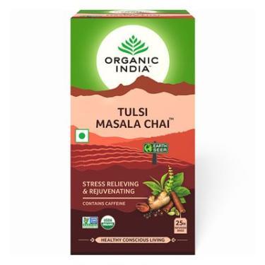 Chá Masala Chai (Masala Chá Preto Assam e Tulsi) 25 Sachês (45g) - Organic India