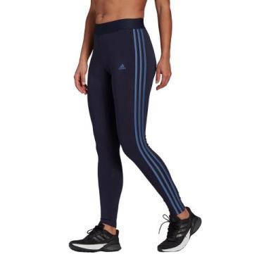 Calça Legging Adidas 3 Listras Feminina