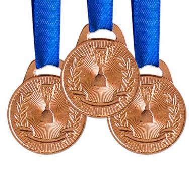 Pack c/ 10 Medalhas AX Esportes 35mm Honra ao Mérito Bronzeada-FA466