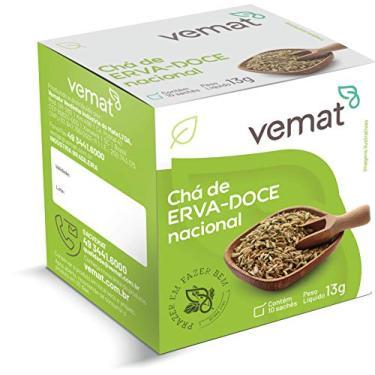 Chá Vemat Erva Doce Nacional - (caixa c/ 10 un. c/ 10 sachês)