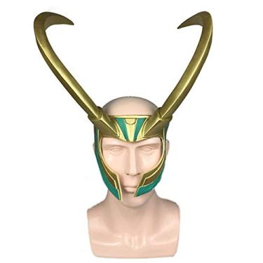 Imagem de Thor:Loki Máscara Coroa Chifre de Boi PVC Festa Cosplay Halloween para Adulto