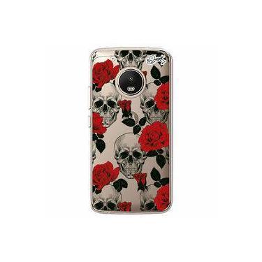 Capa Personalizada para Motorola Moto G5 Plus - SKULL ROSES - Quark