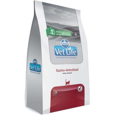 Ração Farmina Vet Life Gastro-Intestinal para Gatos Adultos com Dificuldades Digestórias - 2 Kg