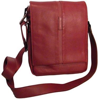 Bolsa Carteiro em Couro Bennemann - 5515A - Vermelho