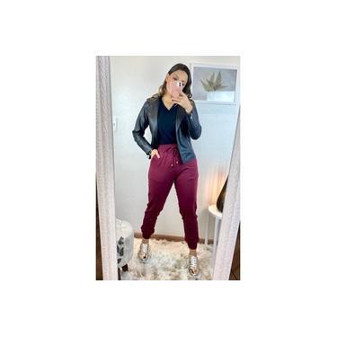 Calça Jogger Feminina Moletinho em Viscose Amicia Fashion 01670