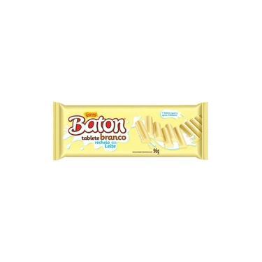 Tablete de Chocolate Baton Branco 96g - Garoto
