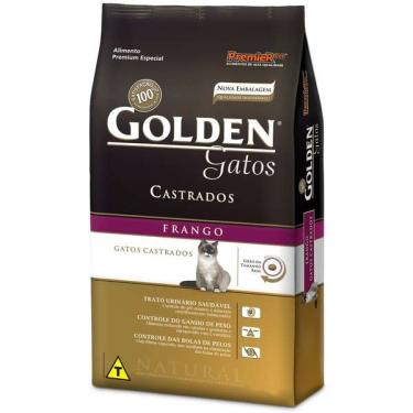 Ração Seca PremieR Pet Golden Gatos Adultos Castrados Frango - 3 Kg
