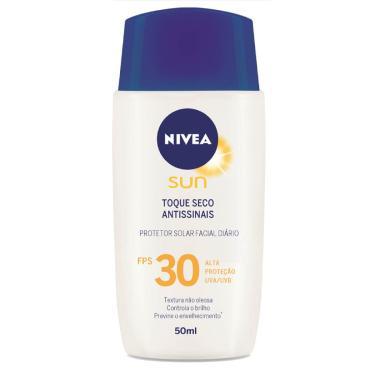Protetor Solar Facial Nivea Sun Toque Seco Antissinais FPS30 50ml