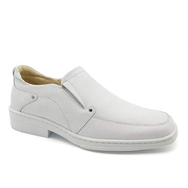 Sapato Masculino 910 em Couro Floater Branco Doctor Shoes-Branco-44