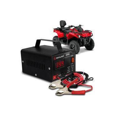 Carregador Bateria Automotivo Para Quadriciclo Shutt Bivolt 12v 5a 60w Com Voltímetro Digital