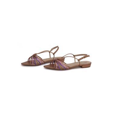 Sandália Rasteira Spaço Criativo 12.500/266 Bronze Colors  feminino