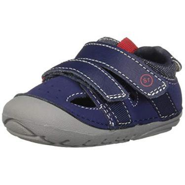 Sandália infantil Stride Rite Soft Motion para bebês e meninos Elijah Fisherman, Azul marino, 3 Infant