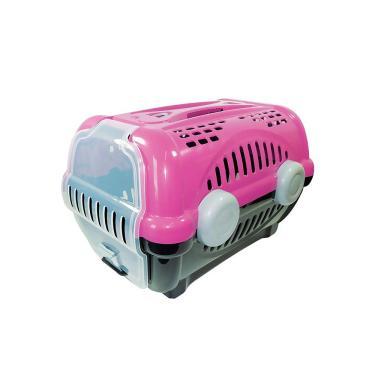 Caixa de transporte pet luxo rosa N3 - Furacão Pet