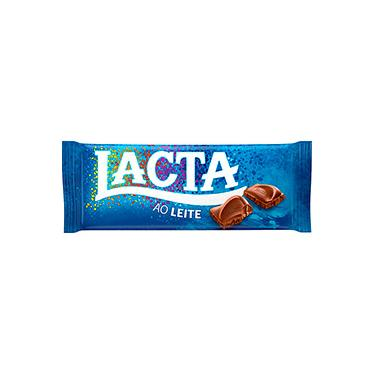 Barra de Chocolate Ao Leite Lacta 90g